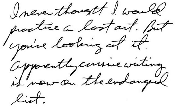 the guidon online : Cursive Going Out of Style