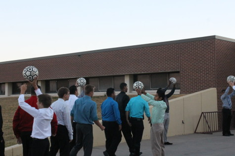 Senior soccer players arrive in style on Oct. 9