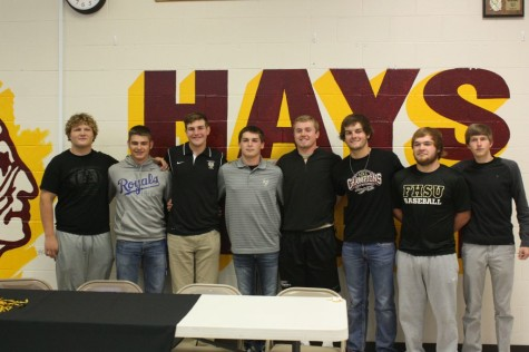 Seniors Jared Haynes and Cole Schumacher sign to Fort Hays