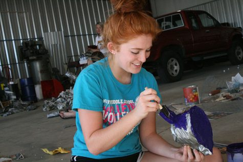 Float building brings classes together