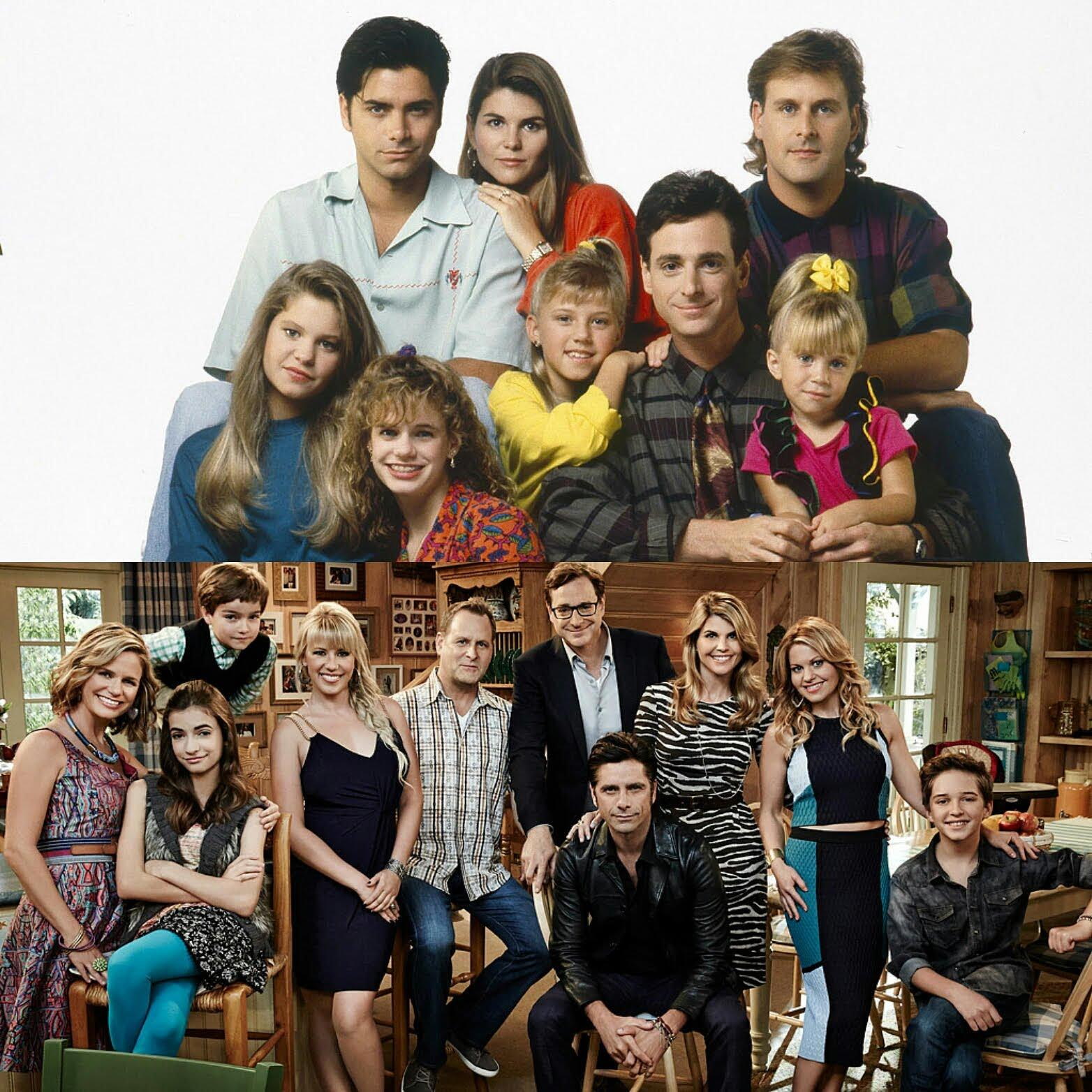 The cast of Full House vs. the case of Fuller House