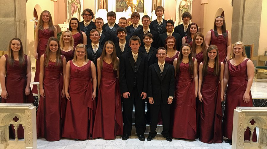Chamber Singer members from the previous year after the Cathedral Concert.