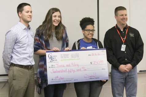 Students awarded for Golden Belt Bank video project
