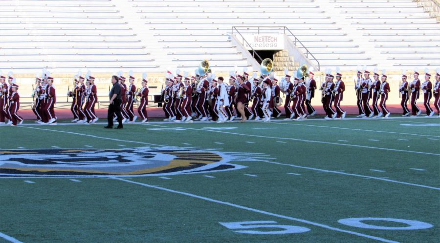 The+WAC+Marching+Festival+was+held+Monday+Oct.+16+at+Lewis+Field.