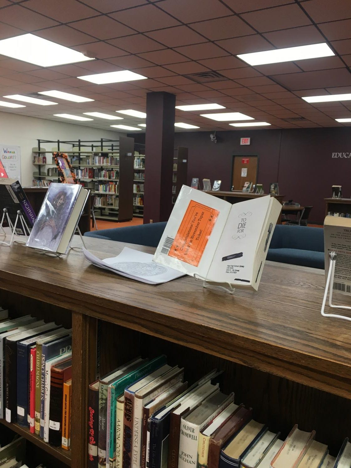 The hidden tickets in the library are new to the school this year thanks to librarian Erin Holder. Each month, new winner will be announced.