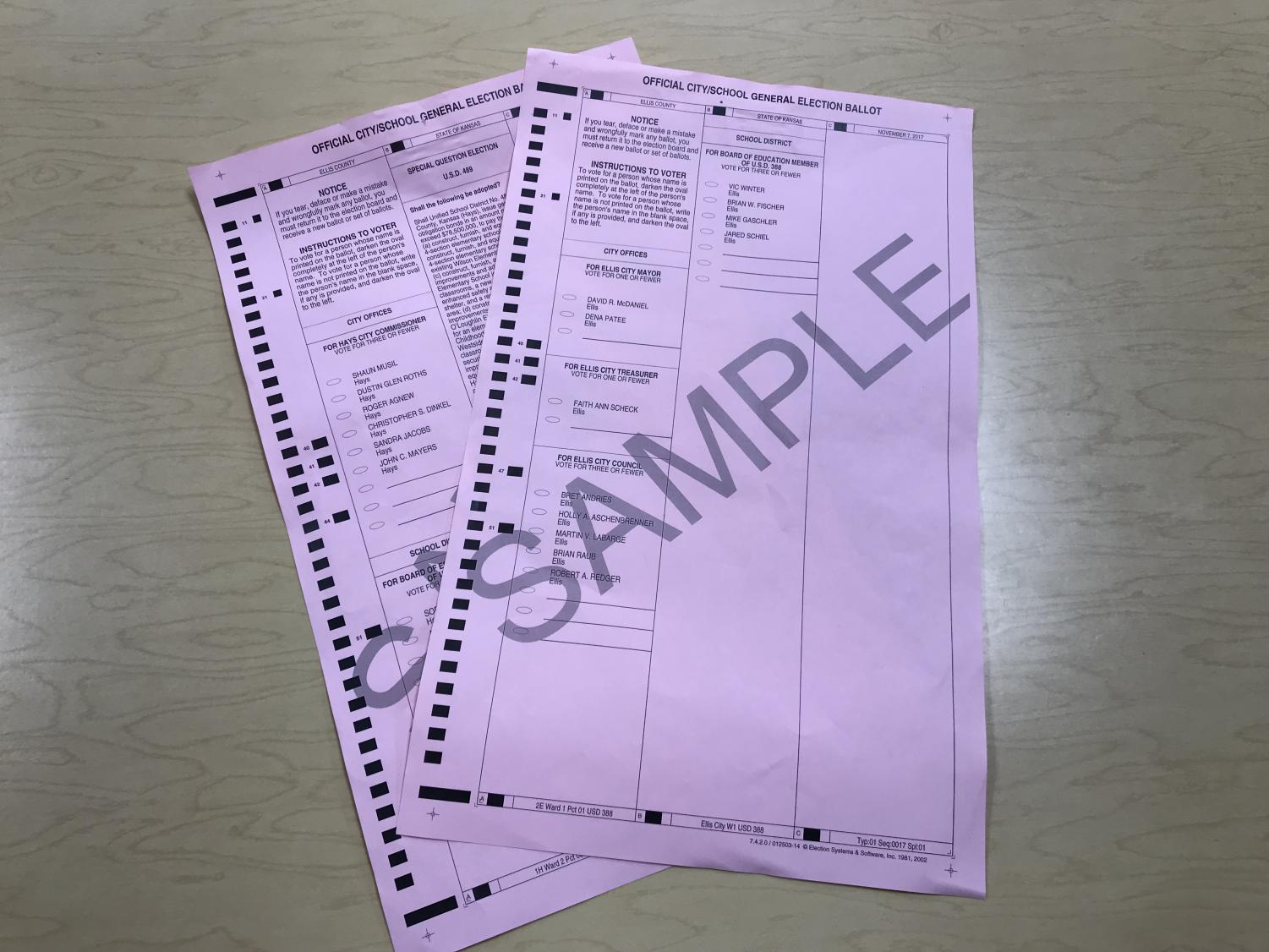 Fenwick used sample ballots as demonstrations for her students.
