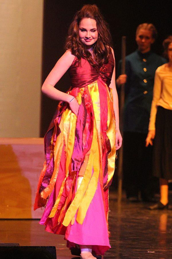 Gypsy dancer Esmeralda (senior Erin Muirhead) dances to the