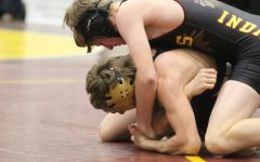 Indian wrestling competes at home and Russell