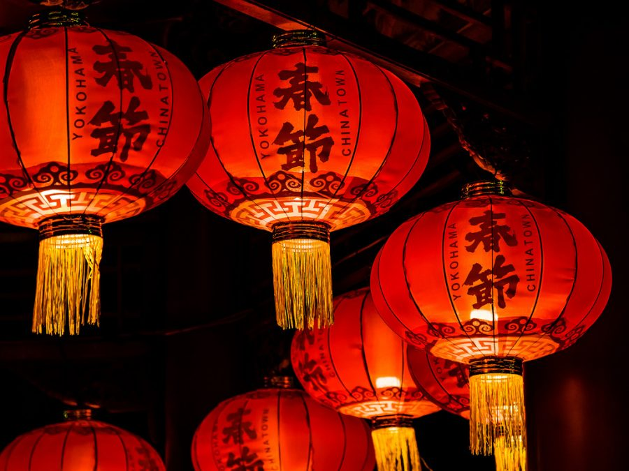 Lanterns are a traditional element of Chinese New Year celebrations.