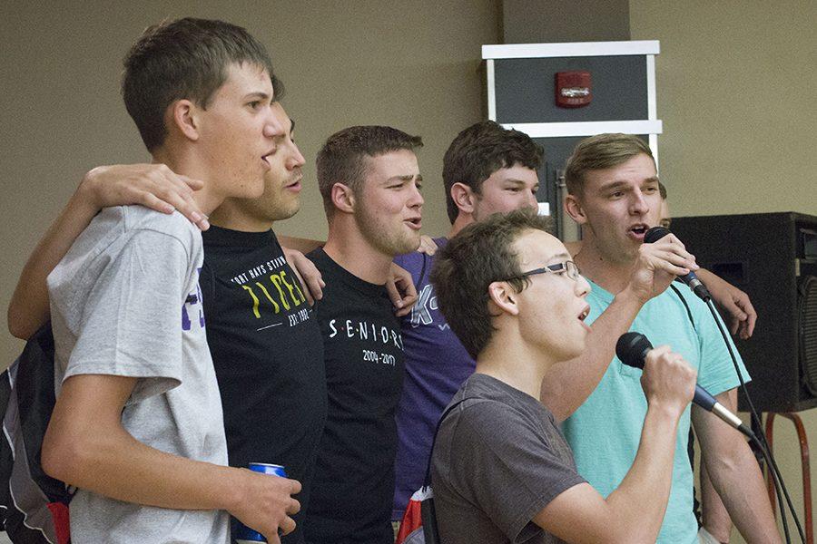 Last year's graduates sing karaoke at Project Graduation.
