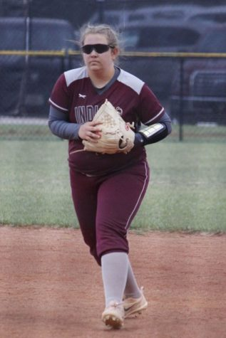 Indian softball drop two at Great Bend