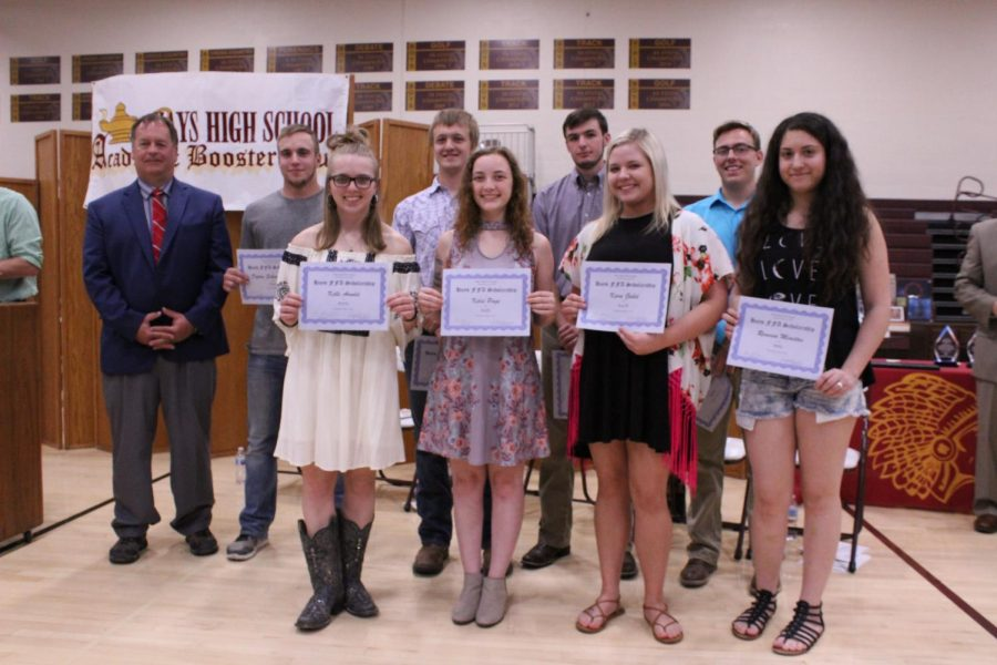 Nine seniors were chosen to receive a Hays FFA Chapter Scholarships. The amounts are based upon the level of participation members have shown throughout their high school years. A total of $13,580 was rewarded.