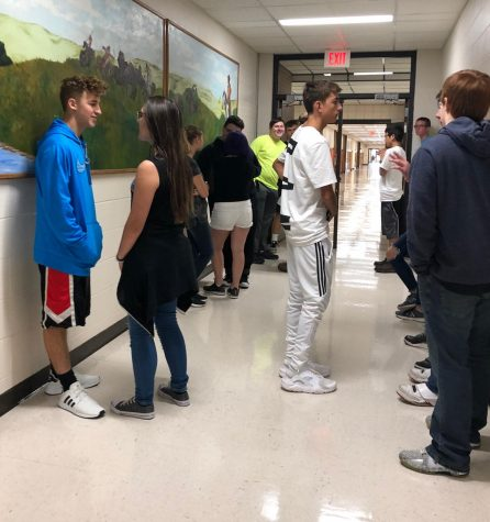 Since the new rule was put in place, some instructors have asked students to wait in the hall leading to the Cafeteria. Junior Tasiah Nunnery said not all instructors have done this.