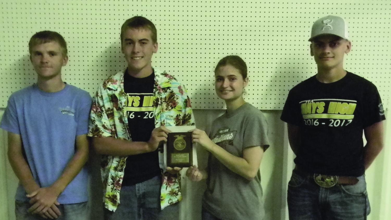 Left to right: Jordan Hunsicker, Colton Vajnar, Zoe Buffington and Quentin Rupp.