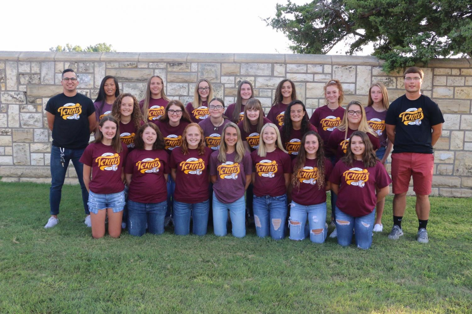 The girls tennis team at Maroon and Gold.
