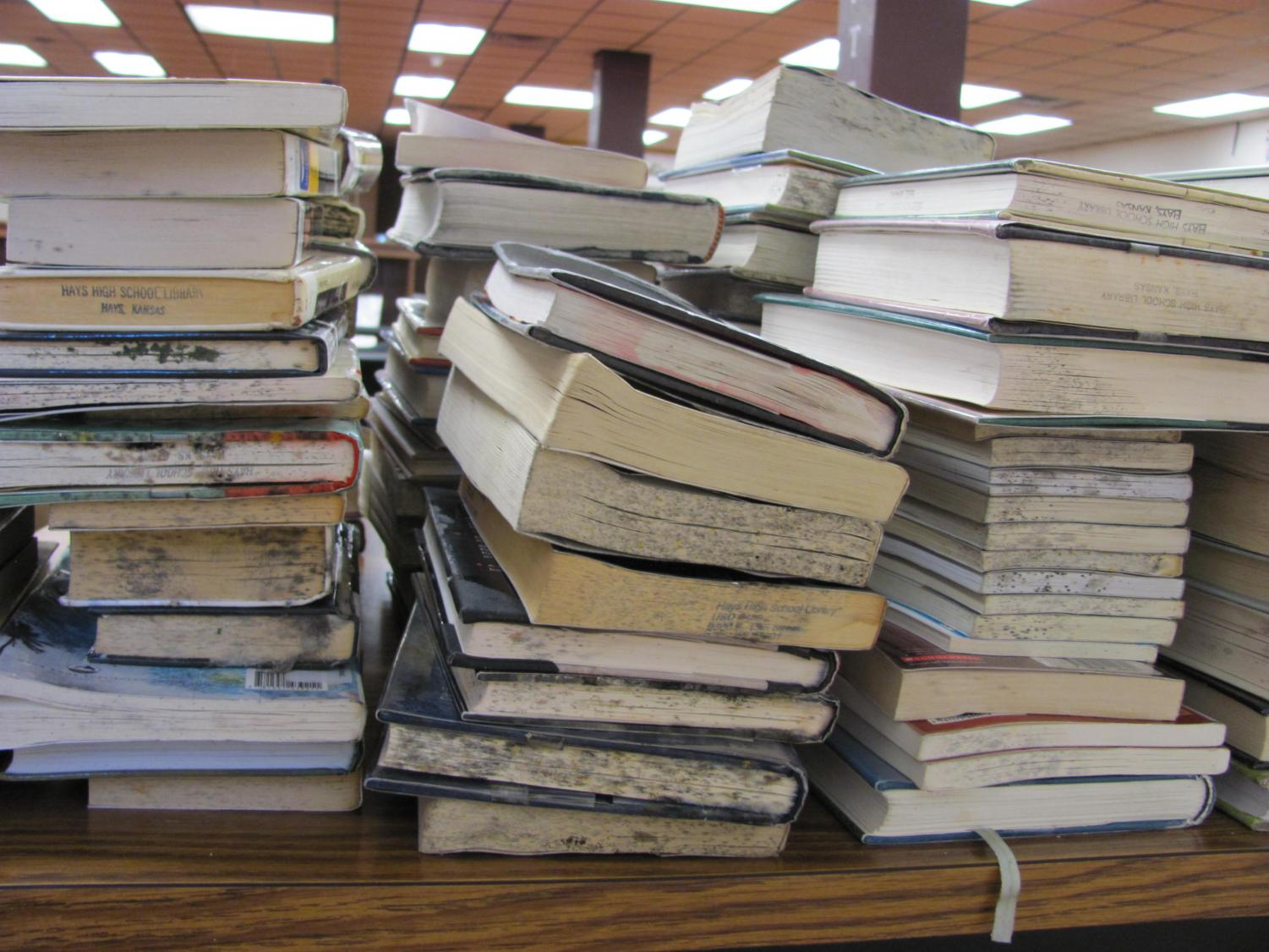 Over $4,000 in damages were caused by the water damage in the library.