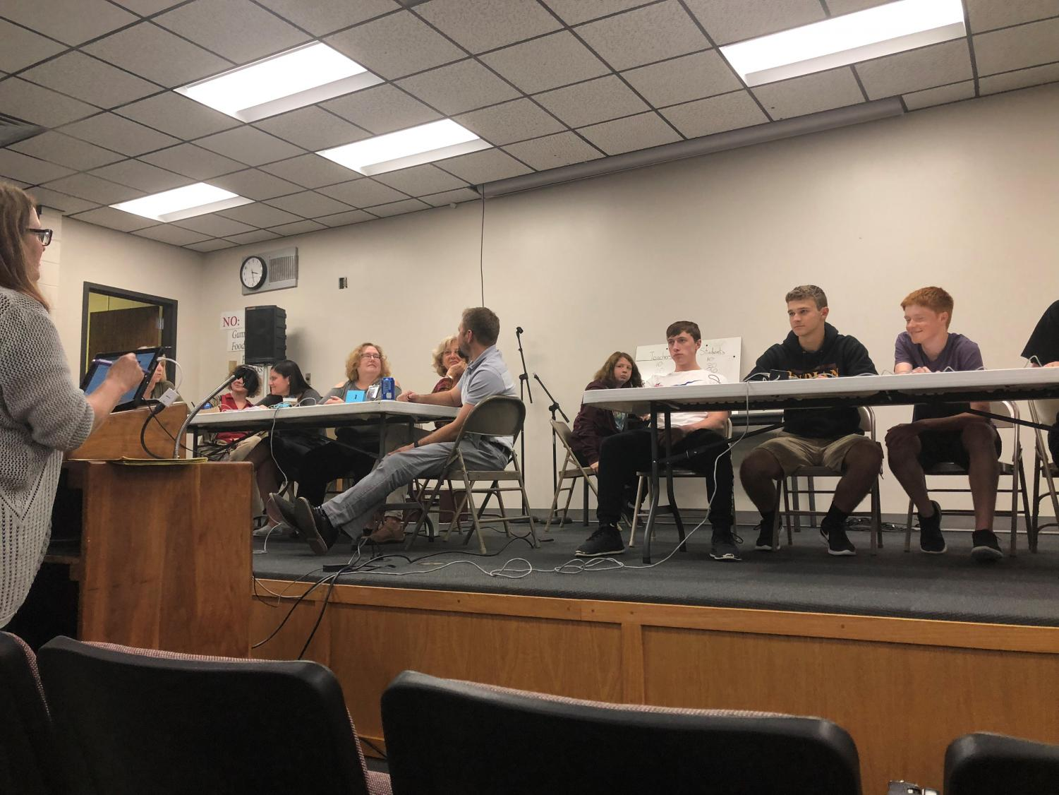 Scholar's Bowl members competed head to head against teachers.