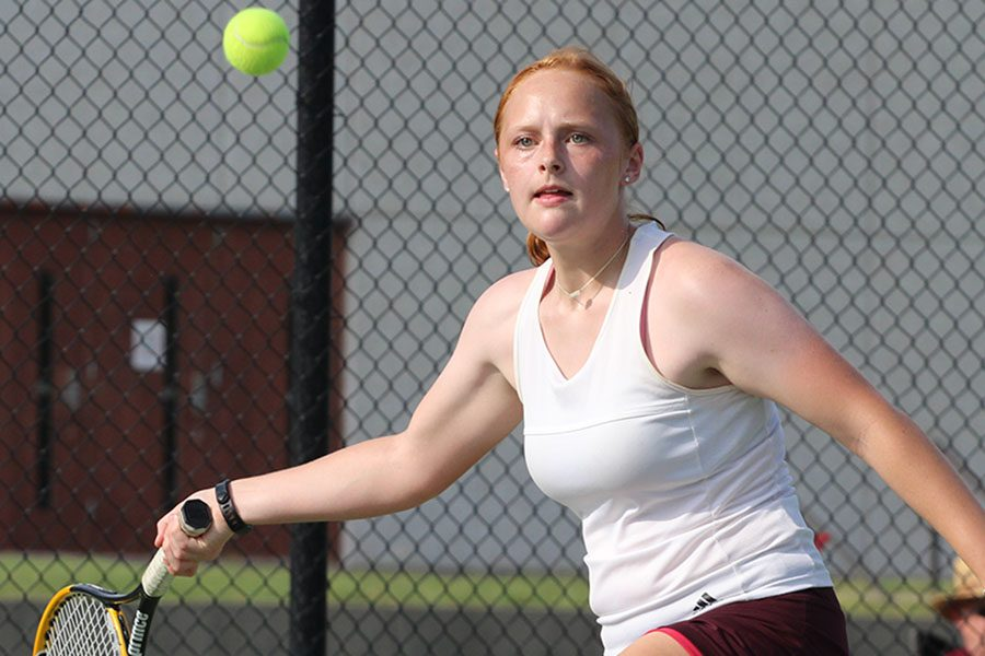 Girl+tennis+places+first+at+first+varsity+meet