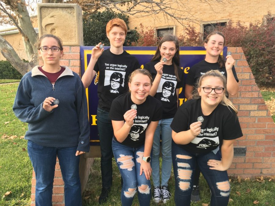 The Scholar Bowl team went 5-2 and took second at the Trego County meet on Oct. 29.