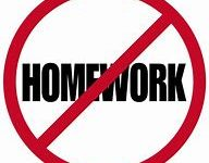 Teachers shouldn't give homework to students