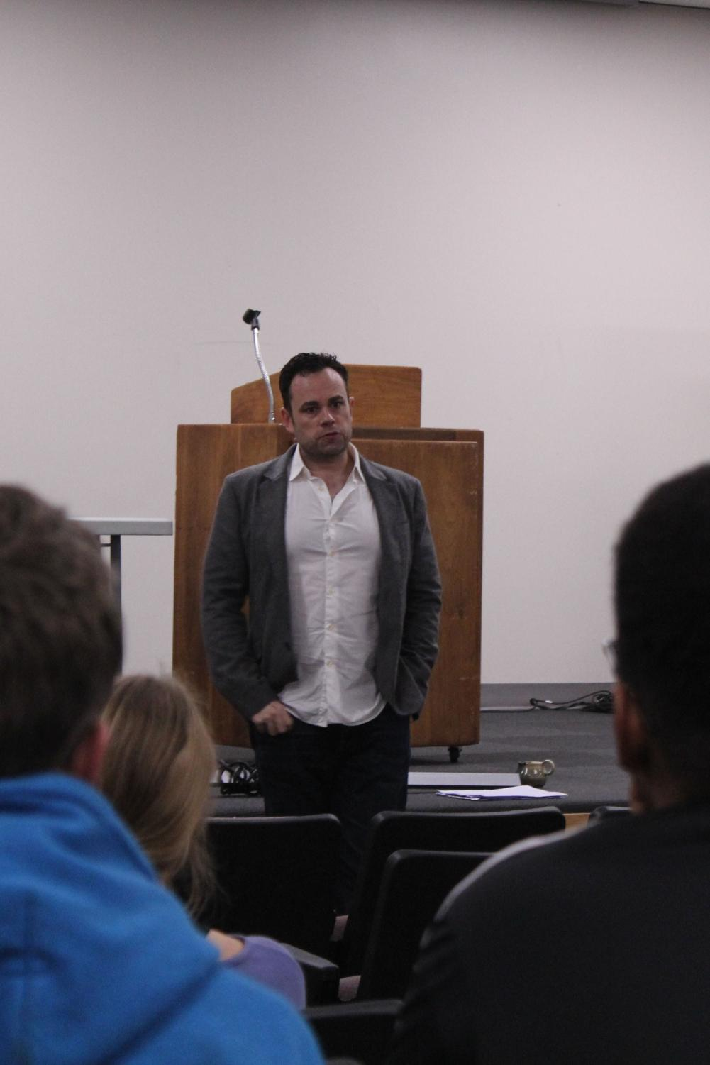 Casting director and screen writer Scotty Mullen spoke to students on Oct. 9 about his career. Mullen offered advice such as not letting rejection get to you and to fully commit to the career.