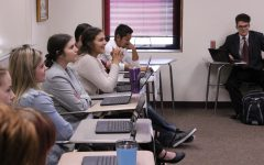 Students in instructor Layton Hickel's American Government participate in mock trial