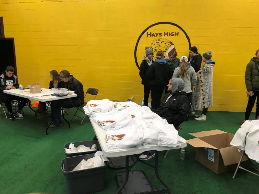 DECA students were given the opportunity to volunteer at annual Turkey Trot event, hosted by the HRC. It is a good opportunity for community service hours, instructor Shaina Prough said.