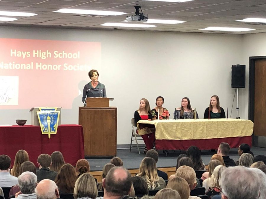 National Honor Society was inducted on Nov. 6, where school board president Mandy Fox was a guest speaker.