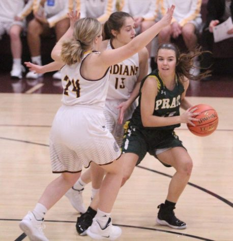 Senior Savannah Schneider leads Indians to 73-65 victory over Salina Central on Jan. 25