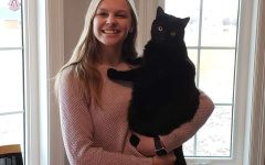 Freshman Sam Vesper moved to Hays this year from Lyons. In her spare time, she enjoys spending time with her cat.