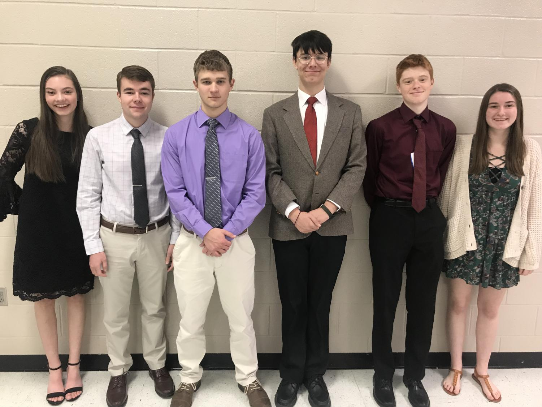 The team consisted of sophomores Andrew Duke, Allison Brooks, Alicia Feyerherm, Skylar Zimmerman, junior Levi Hickert and senior Cameron Karlin.