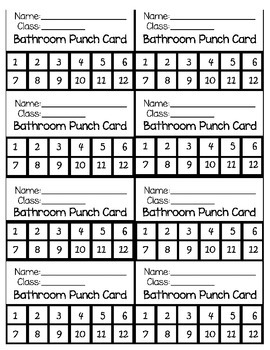 Some teachers have a punch card system that limits the number of times students can go to the bathroom each semesters. Students are then awarded extra credit for unused passes.