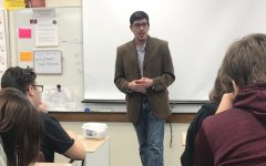 Public advocate speaks about experiences to students