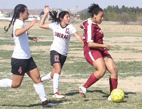 Girls soccer defeats Liberal on the road
