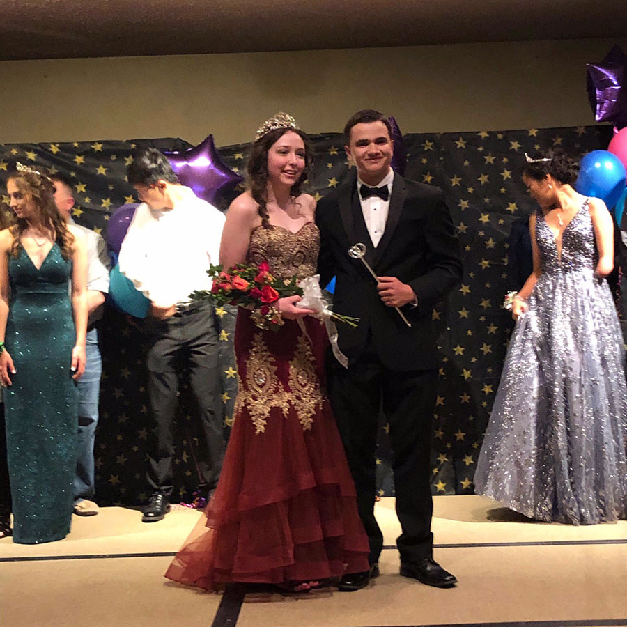 The prom candidate winners were Alex Hagerman and Josh Norris.