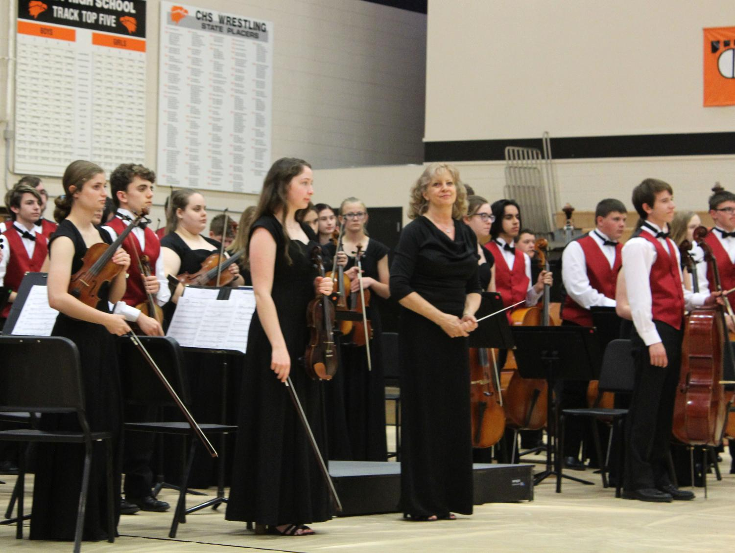 Large group music contest took place on April 24 in Colby. All music groups received solid ones from every judge.