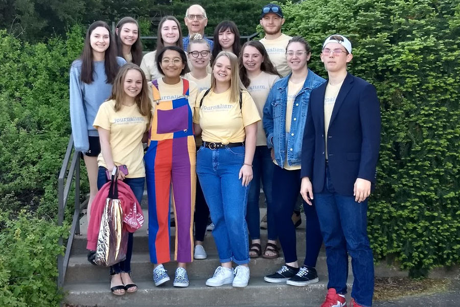Thirteen journalism students attended the state journalism contest on May 4. Three of the students attending did not compete.
