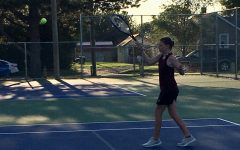 Girls' JV tennis competes at Russell
