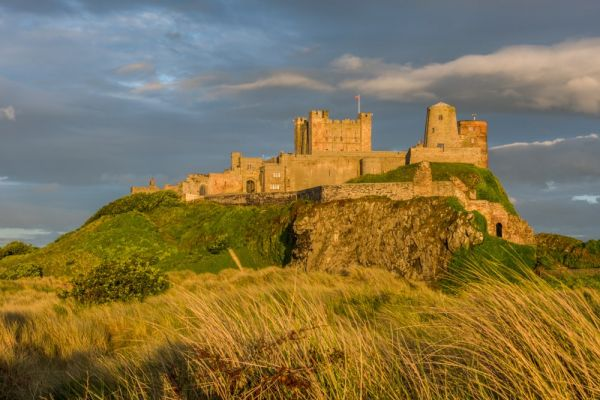 Bamburgh Castle is located in Northeastern England. This is a site where Kennedy Dold worked for three summers.