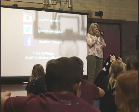 Speaker Heather Schultz talks during the 2019 StuCo Regional Conference.