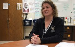 Speech language pathologist Tara Marshall presents to students during PRIDE Time on Oct. 24