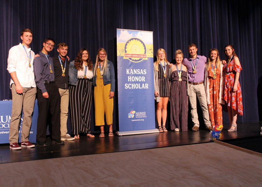 During the Kansas Honor Scholars reception on Oct. 21, 18 seniors were recognized from Hays High, as well as students from surrounding schools.