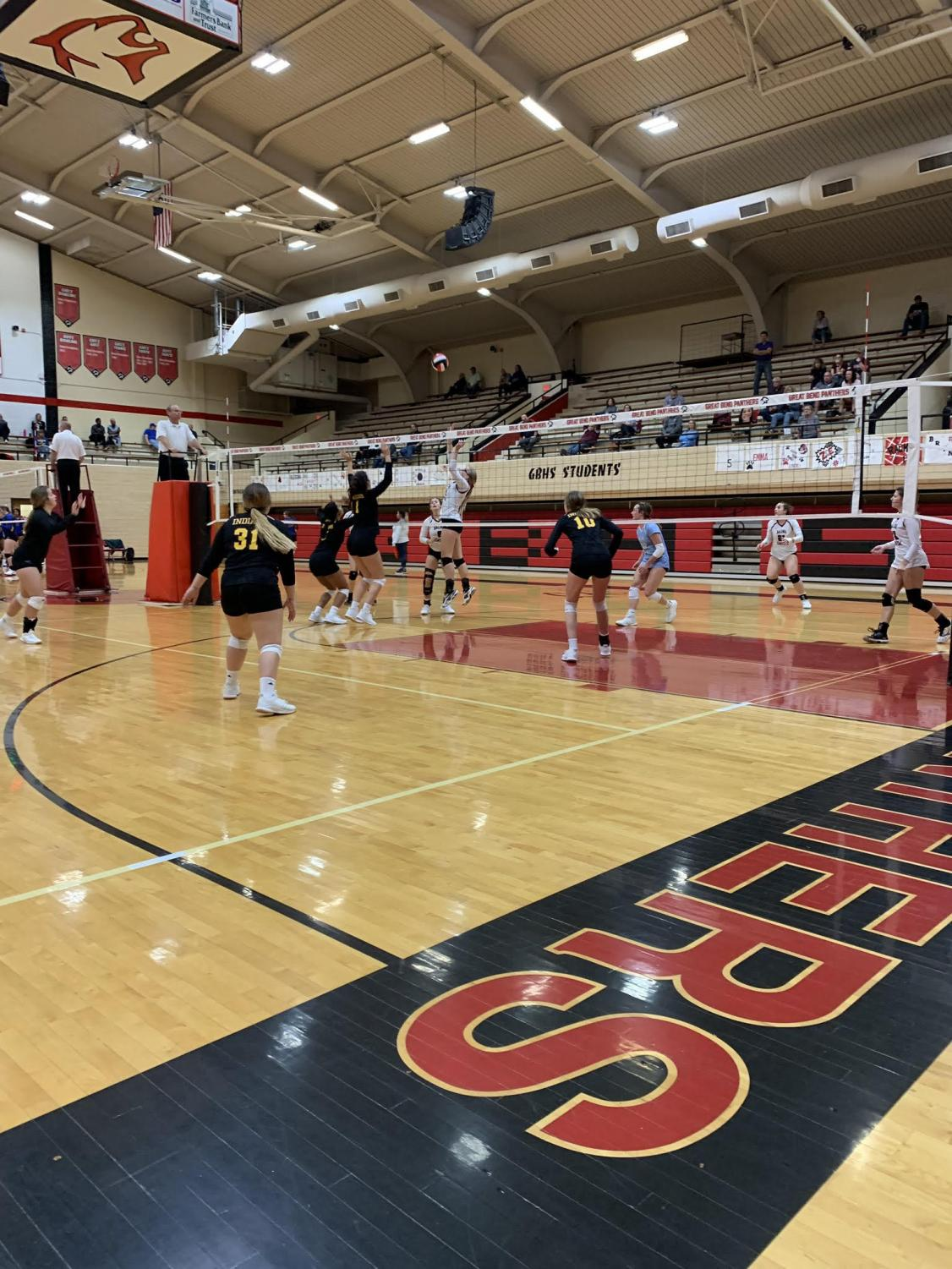 The varsity team played in Great Bend on Oct. 5.