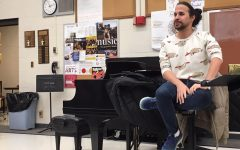 Actor Adrian RIfat talks to students about his career during PRIDE TIme on Nov. 7. Rifat gave advice to students wanting to go into the acting business. Rifat has lived in New York for the last 11 years.