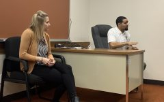 Taylor Kriley, Tre Giles speak to students about civic engagement