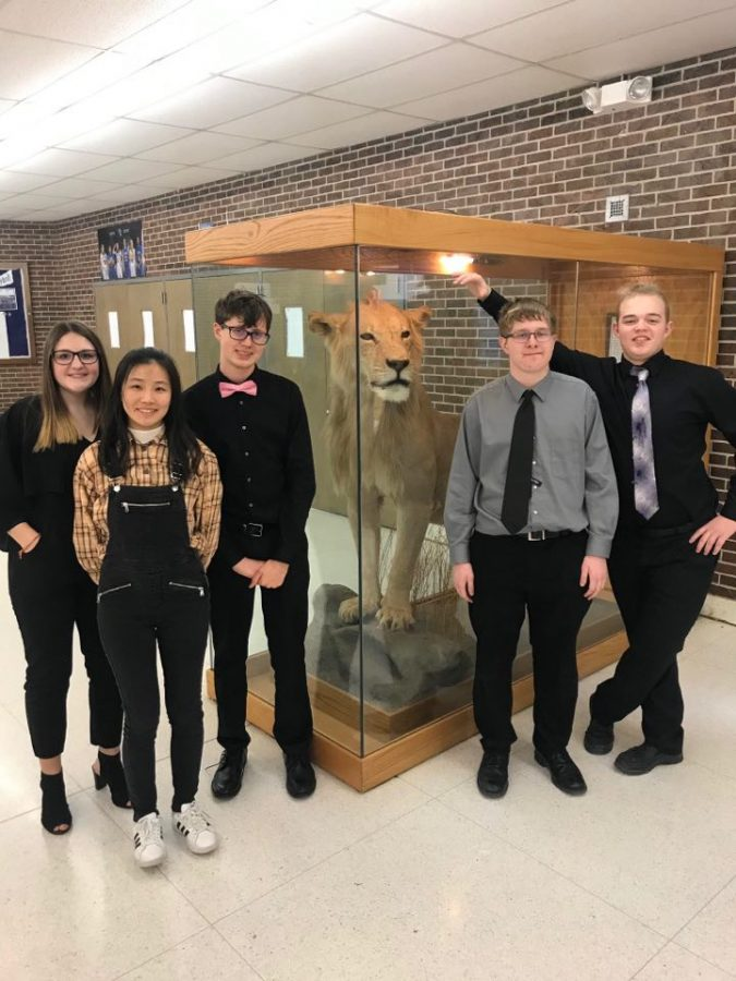 The+forensics+team+attended+the+tournament+in+Lyons+on+Feb.+22.