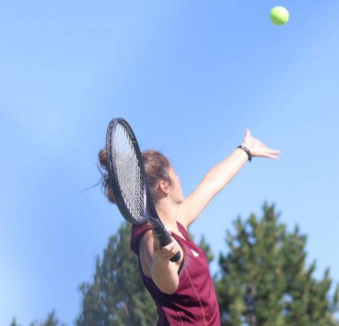 Maggie Robben played #1 singles at Great Bend.