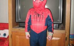 This is me dressed up as Spider Man on my 6th Halloween night.
