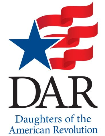 This is a picture of the new Daughters of the American Revolution logo. The DAR is a lineage-based membership service organization for women who are descendants from a person involved in the United States Revolution.