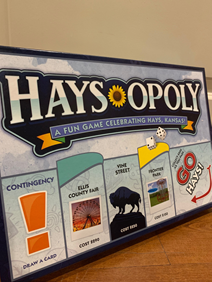 THe cover of the Haysopoly boardgame